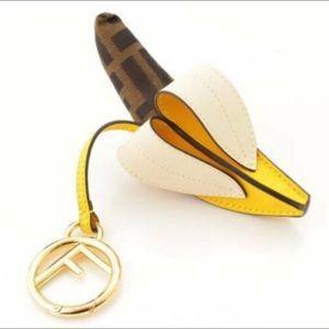 Fendi Totally Banana Keyring/Bag Charm